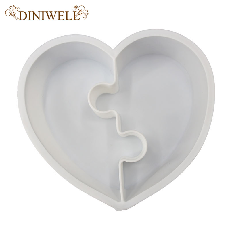 DINIWELL Silicone Cake Decorating Moulds Heart Shape Non-Stick Baking Pastry Tool For Chocolate Jelly Mousse Stand Bread Stencil