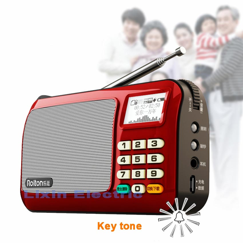 Rolton W505 MP3 Pleyer Mini Portativ Səs Dinamiklər FM Radio LCD - Portativ audio və video - Fotoqrafiya 3