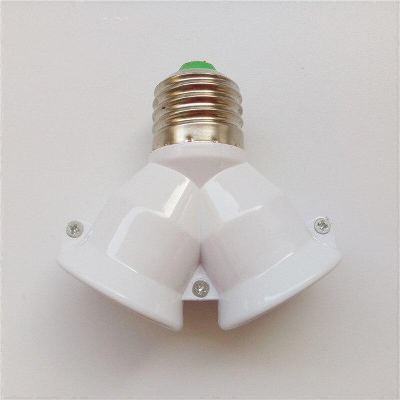 2 в 1 E27 патрон лампы e27 патрон лампы сплиттер адаптер светильник база для светодиодный лампы - Цвет: White