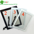 10pcs 100% Tested Touch Panel For ipad 2 3 4 Touch Screen Digitizer Panel home button flex sticker With camera holder complete