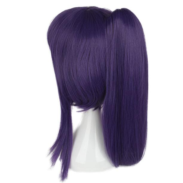 Ensemble Stars Souma Kanzaki Cosplay Wig Medium Long Synthetic Hair Wig Anime Wig Unisex Party Wig Purple Claw Clip Ponytail