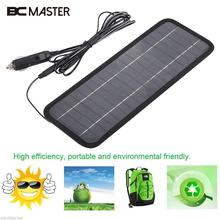 BCMaster 32 * 12cm 12V 4.5W Solar Power Panel Solar Cells Bank Solar Battery Charger for Car Auto Boat with Cigarette Lighter