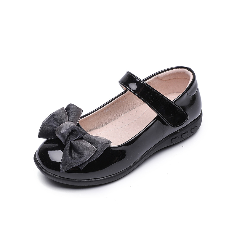Black Childrens Leather Shoes Kids Girls Princess Dancing Shoes School Student Black Leather Shoes For Girls 4 5 6 7 8 9 10 15T in Leather Shoes from Mother Kids