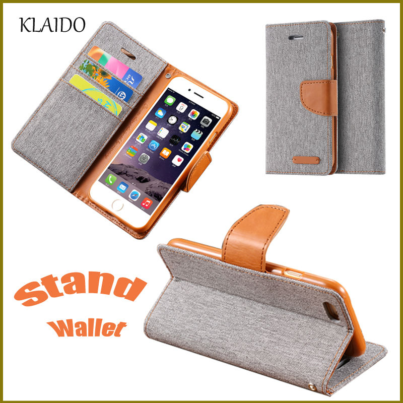 KLAIDO For Samsung Galaxy S6 S7 Edge Case Hit Color Card Slot PU Leather Wallet Cases For iPhone 6 6S For iPhone 7 Plus i5 5S