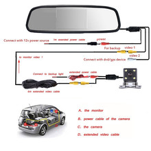 Mini 4.3″ Car Camera with Rear View in Mirror Display