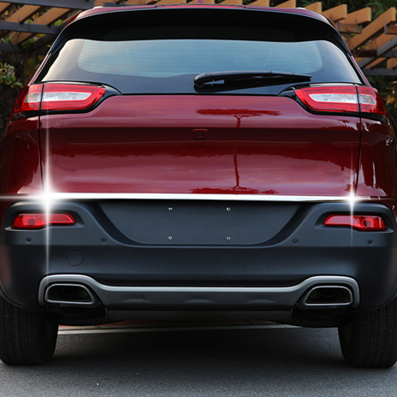 Image 4 - For Jeep Cherokee KL 2014 2015 2016 2017 2018 Rear Trunk Chrome Cover Trim Molding Accessories Car Styling Decoration Sticker-in Chromium Styling from Automobiles & Motorcycles