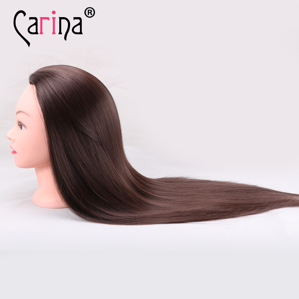 Brown Hair Hairdressing Dolls Head Female Mannequin Styling Training Nice High Quality