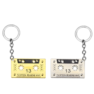 THIRTEEN REASONS WHY AUDIO TAPE keychain CASSETTE TAPE 13 REASONS WHY