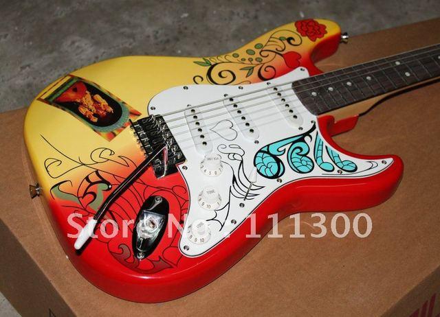 Custom Shop Jimi Hendrix Solid Electric Guitar Top Musical instruments