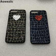 Aoweziic luxury 3D colourful thread Bling Glitter sequins grid diamond bling Phone Case For iphone7 6s X 8 Plus XS MAX XR DIY