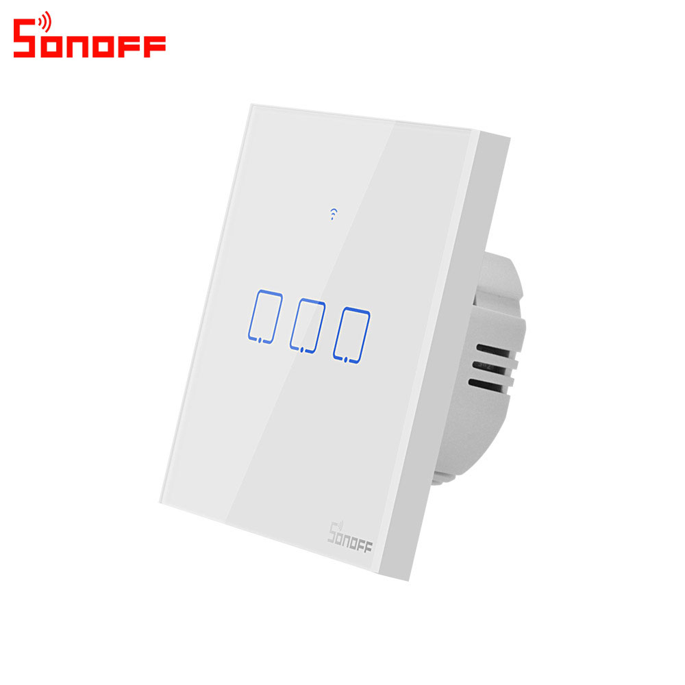 Image 4 - Itead Sonoff T0EU 86 1/2/3 gang TX Series Wall Touch Wifi Switch Remote Control Smart Home Switch Works With Alexa Google Home-in Home Automation Modules from Consumer Electronics
