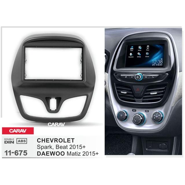 Carav 11 675 Car Radio Fascia Panel For Chevrolet Spark Beat 2015