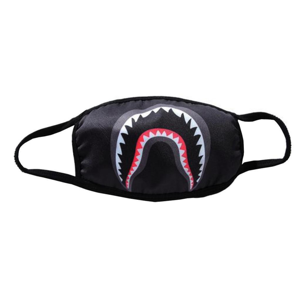 Men's Top Fashion Accessories Shark Mask Cotton Sports Outdoor Face Guard Cool Camouflage Shark Masks Handsome Personality Masks