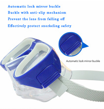 HD Swimming diving mirror children swimming glasses adjustable buckle baby