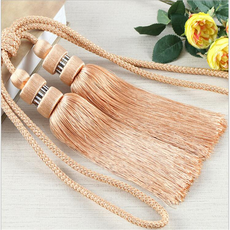 Luxury Curtain Tassel Tieback Clips Buckle Hanging Ball Tie Back Straps <font><b>Holders</b></font> Accessories Home Decoration