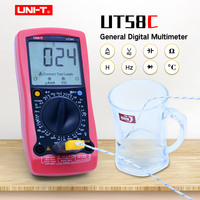 UNI T UT58C Digital Multimeter Data hold Manual Range AC DC voltmeter Ammeter ohmmeter Capacitance Frequency Temperature Tester