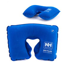 Inflatable U Pillow Portable Air Neck Pillow Travel Air Cushion Camp Beach Car Plane Head Rest Bed Sleep For Lounge Nap Pillow