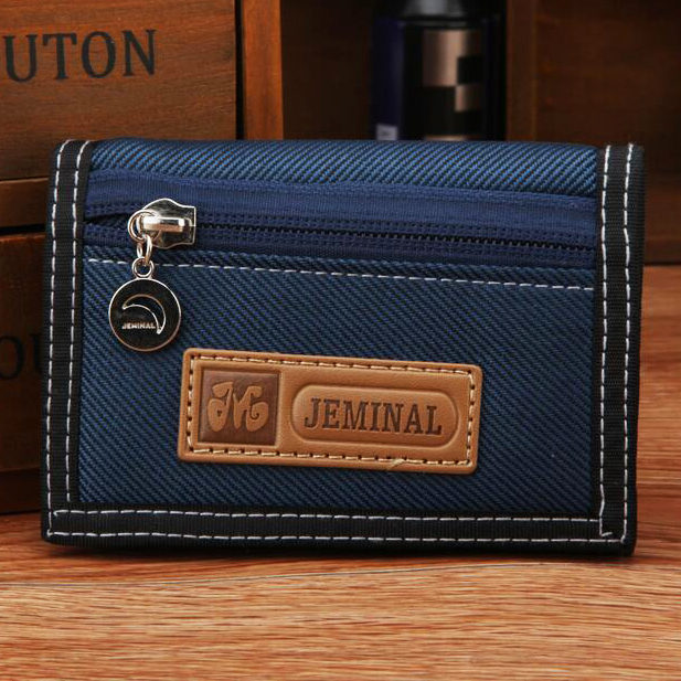 1pc Causal Style Boy's Canvas Wallet Short Design Men Wallets Zipper Coin Purse Card Holder For Teenager Brand Purses pocket Bag