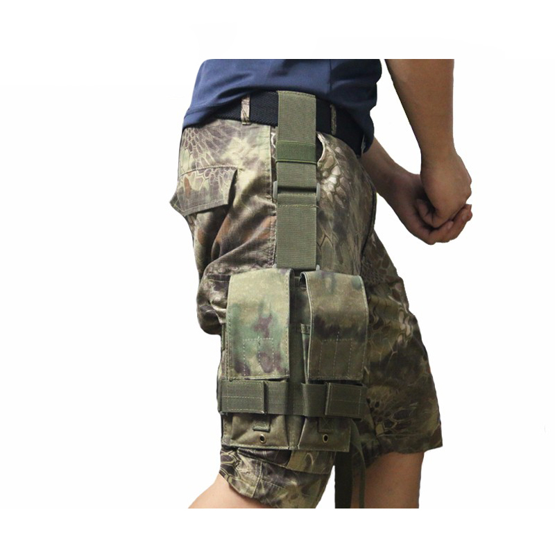 NEW Tactical Molle Double <font><b>M4</b></font> 5.56mm <font><b>Magazine</b></font> Pouch Bag For Airsoft Paintball Drop Leg Panel Utility Pouch Camouflage bag image