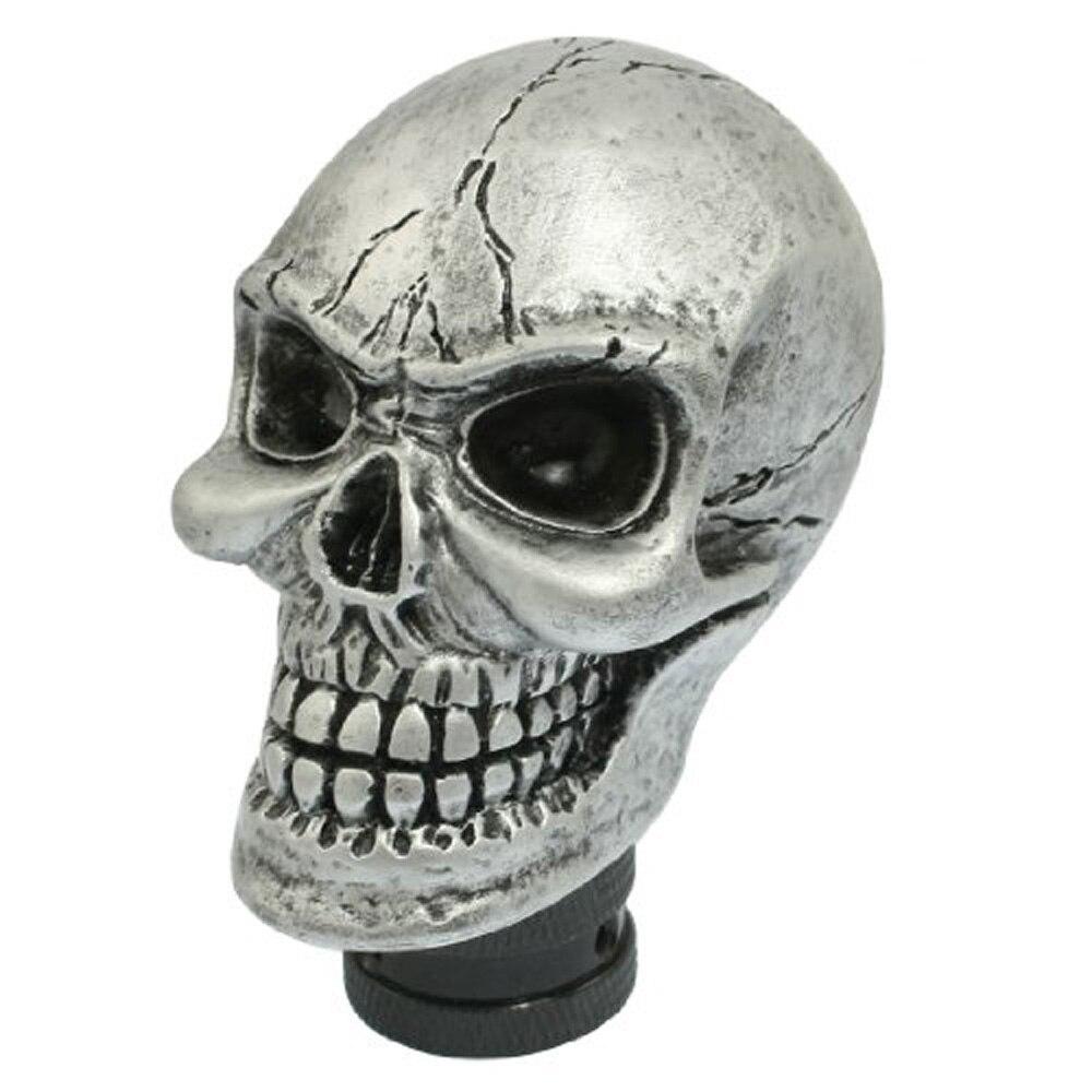 EDFY Metal Skull Head Truck Car Gear Shift Knob + 3 Plastic Connectors 7