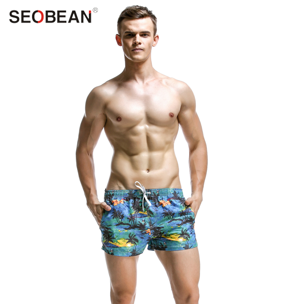 New arrive summer print handsome surf   board     shorts     short   for bathing swimwear water sports Bathing   shorts   for men