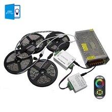 [ Dbf ] 20 м SMD5050 RGB из светодиодов полосы света 60 светод. / м гибкие + 18а беспроводной коснуться пульта дистанционного управления 24а усилитель + 20A