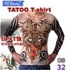 Temporary Tattoos T Shirt Fake Temporary Tattoo Sleeve Designs Body Arm Stockings Tattoo For Cool Men