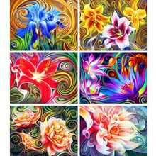AZQSD Diamond Painting Flowers Abstract Diamond Mosaic Full Display Gift Picture Of Rhinestones Wall Decor Cross Stitch Kits(China)