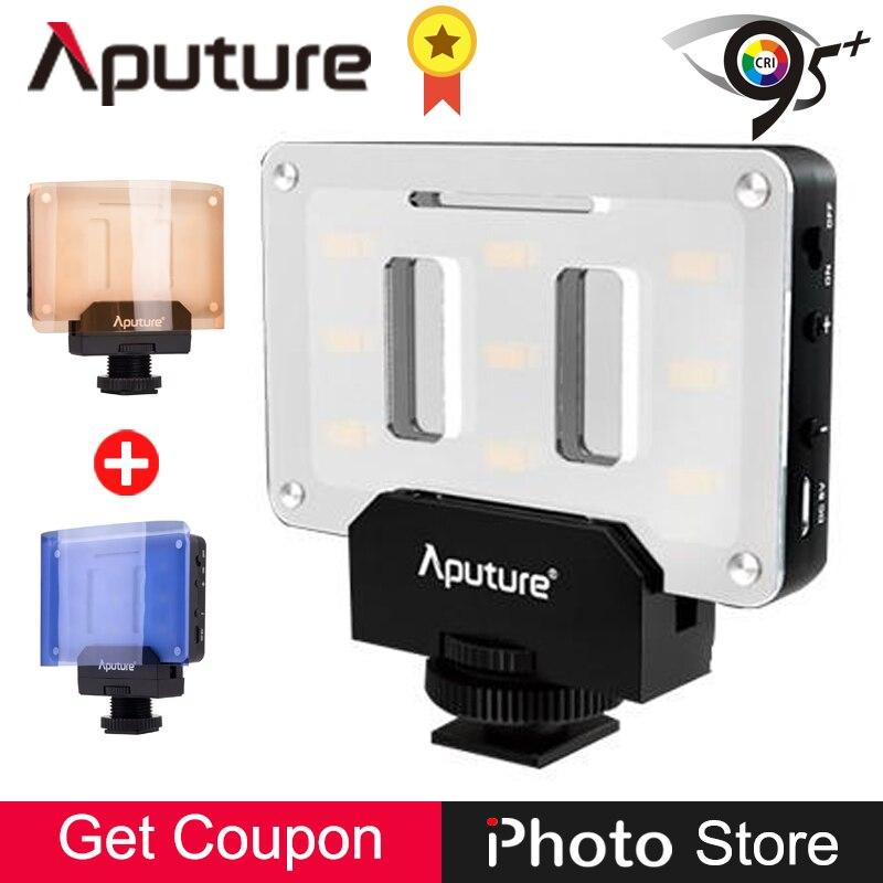 Aputure Amaran AL-M9 Pocket Size Rechargeable LED Video Fill Light CRI TLCI 95+ CTO CTB Gel Filter for SLR Camera DV Camcorder