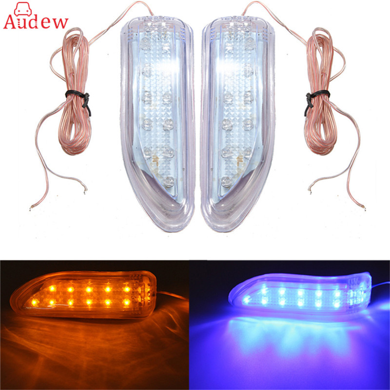 2Pc Soft 13 LED Car Auto Rear View Mirror Light Rearview Mirror Light Side Door Mirror Light Indicator Turn Signals Lamp DRL 12V left and right car rearview mirror light for mercedes benz w164 gl350 gl450 gl550 ml300 ml350 turn signal side mirror led lamp
