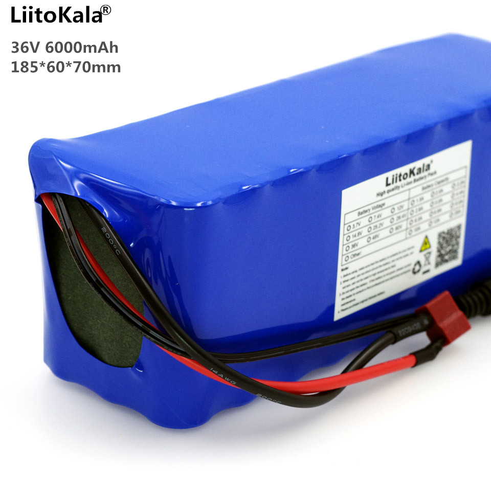 Liitokala Battery pack 36V 6Ah 10S3P 18650 battery Rechargeable Bikes modified, Protection of the electric vehicle 36V with PCB liitokala 36v 6ah 10s3p 18650 rechargeable battery pack modified bicycles electric vehicle protection with pcb 36v 2a charger