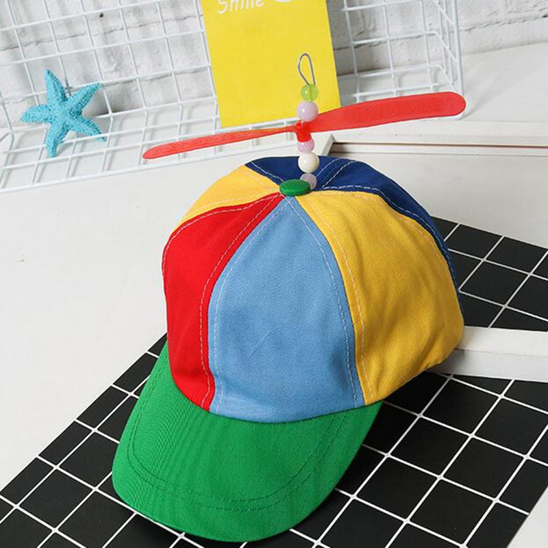 2018 Adult Helicopter Propeller   Baseball     Caps   Colorful Patchwork   Cap   Hat Bamboo Dragonfly Children Boys Girls Snapback Dad Hat