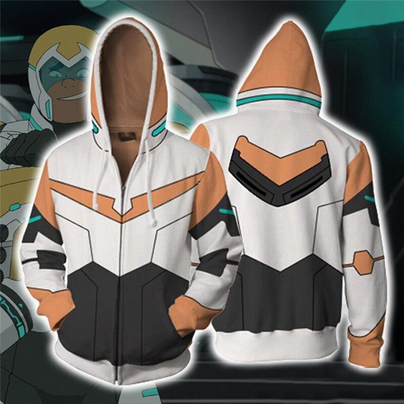 Voltron: Defender of the Universe Hunk Cosplay Costume Men's Sweatshirt Hooded Uniform Streetwear Women Mens Zipper Hoddies