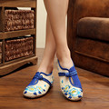 2017 Spring Summer Women Flat Shoes Designers Brand Mary Jane Flats Casual Shoes Traditional Embroidered Cloth Ladies Shoes