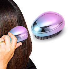 Portable Ionic Hairbrush Mini Ion Vibration Hair Brush Comb Head Massager For Styling Anti-static Straight Hair Comb portable electric ionic hairbrush takeout mini hair brush comb massager small