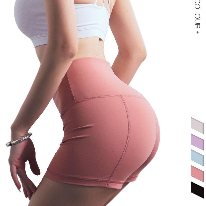 <+>  5 цветных сексуальных женских шорт для йоги Скрытая сумка Тренажерный зал быстросохнущие шорты для б ★