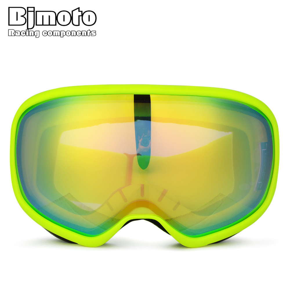 BJMOTO Fashionable Snow Goggles Safety Motorcycle Outdoor Sports Ski Snowboard Skiing Winter Glasses Motocross Goggle
