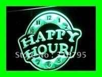 I257 HAPPY HOUR Beer Bar Pub Club NOVO Neon LEVOU Sinal de Luz On/Off Switch 20 + Cores 5 tamanhos