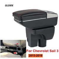 Armrest box For Chevrolet Sail 3 USB Charging heighten Double layer central Store content cup holder ashtray accessories