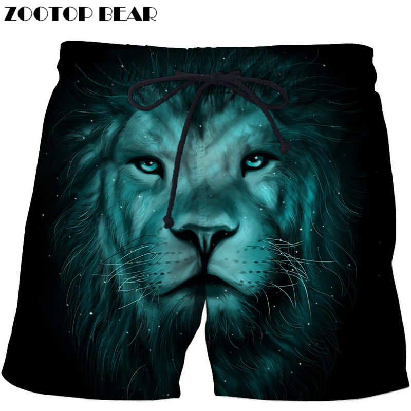 Funny Lion Beach Shorts Masculino Men Board Shorts Plage 3d Streetwear Fashion Swimwear Quick Dry Shorts Dropship Zootop Bear Relieving Heat And Thirst. Lights & Lighting