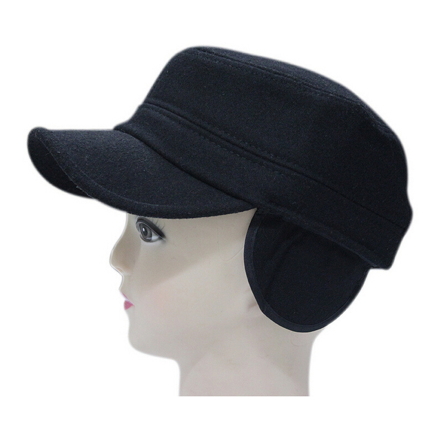 Autumn outdoor sun shade hat winter super warm cloth ear protection army cap wool winter warm cap cold autumn thermal unisex cap
