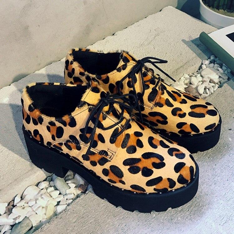 quadratische hohe Pferdehaar Leopard Lace neue {zorssar} Plattformpumpen Schuhe Heels up Zehe SchwarzesLeopard 2018 Ferse reizvolle Frauen ufige runde beil dCoeBWxr
