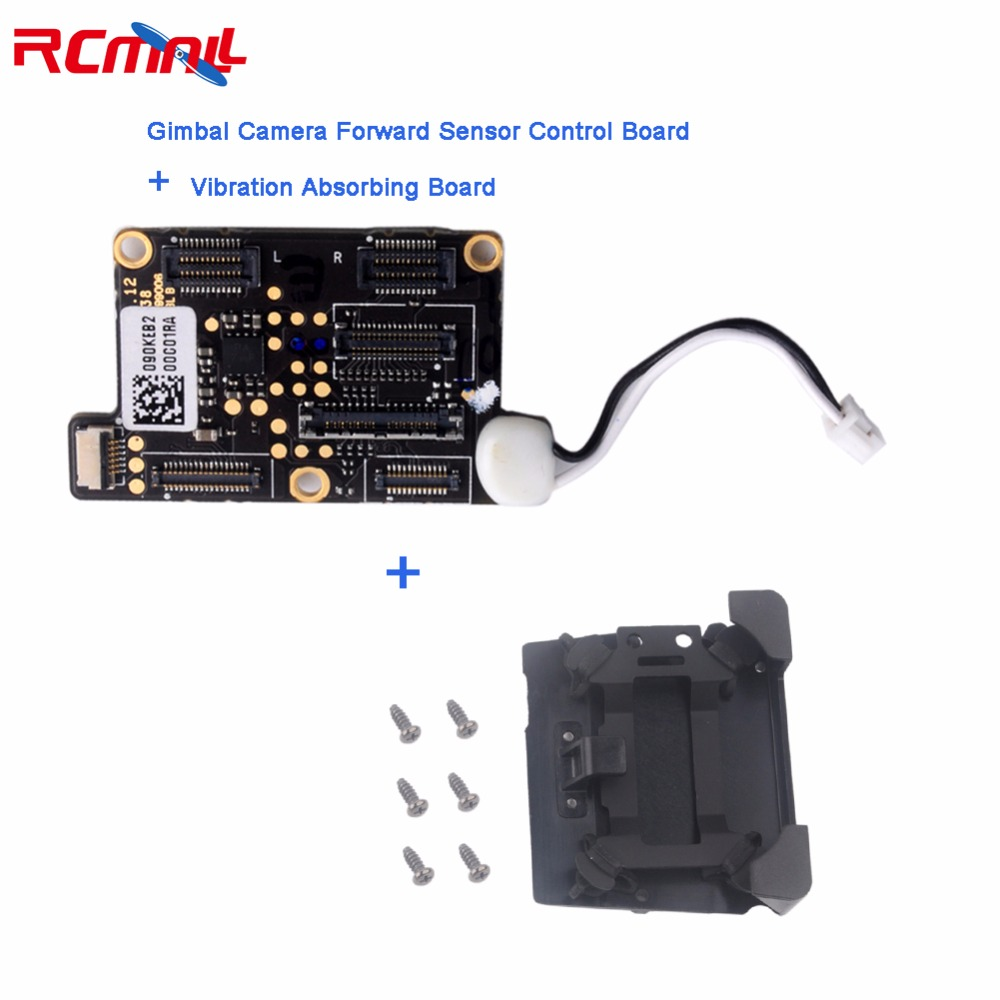 Original for DJI Mavic Pro Gimbal Camera Forward Sensor Control Board+Vibration Absorbing Board Shock Damper Board RC Drone