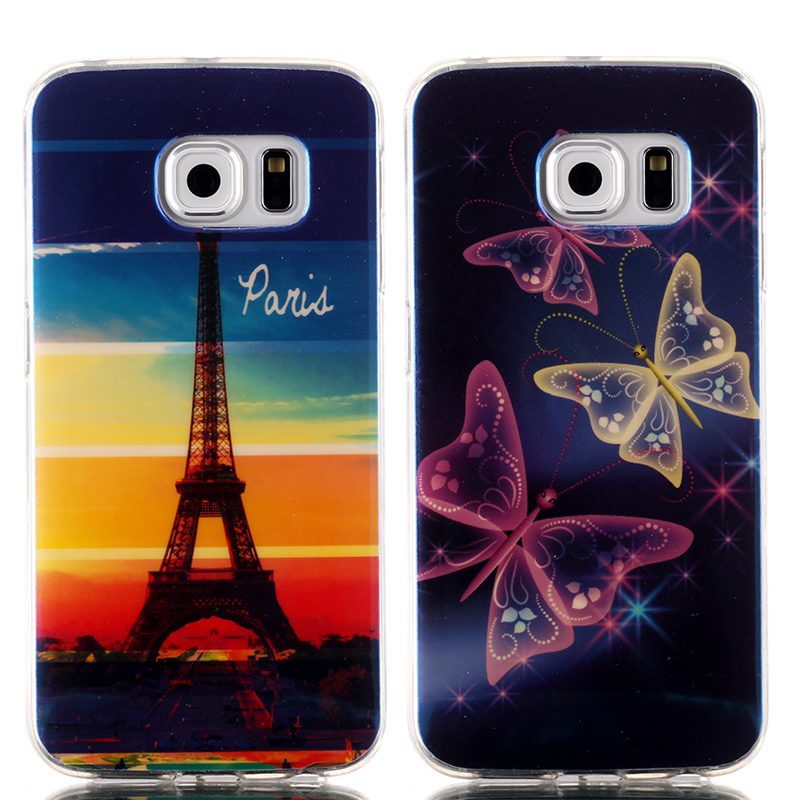 <font><b>Blu-Ray</b></font> Cell Phone Covers Cases For Samsung Galaxy S6 <font><b>Edge</b></font> Luxury Soft TPU