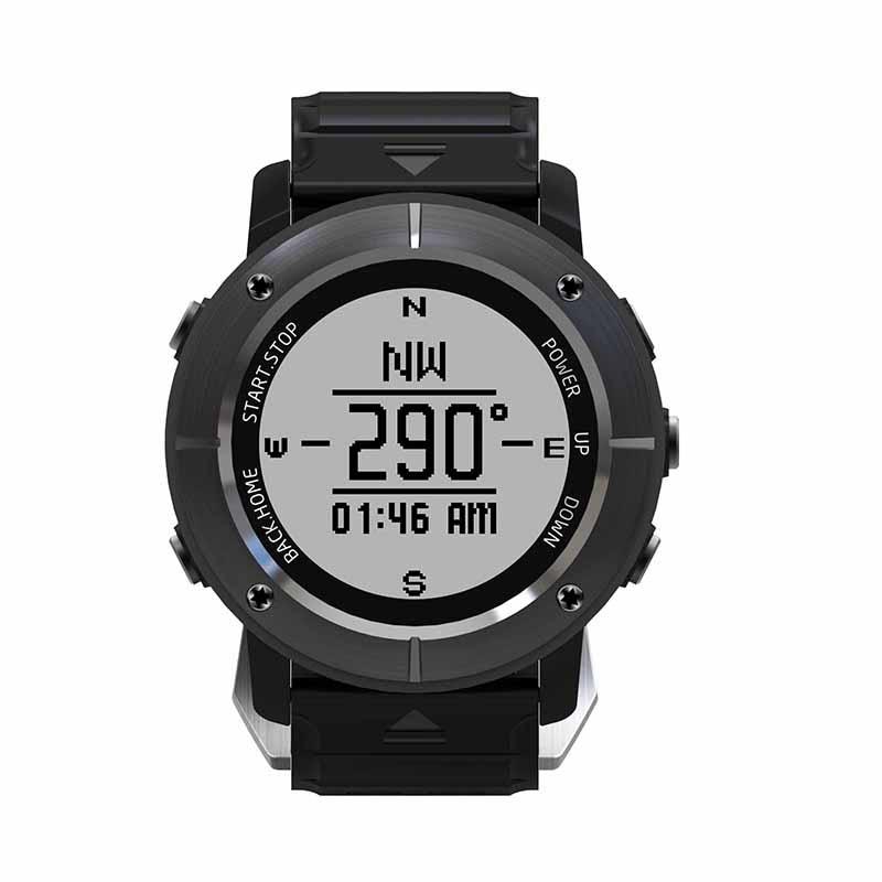 UW80C Men Watch Waterproof Heart Rate Monitor Barometer GPS Thermometer Sport Smart Watch