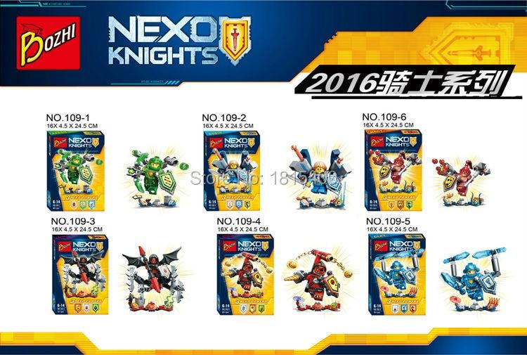 Cool Nexu Knights Super Heros Plastic Toys Building Bricks Sets Kids Educational Toys DIY Blocks Compatible