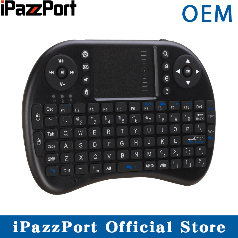 Ipazzport Mini Keyboard Air-Mouse Raspberry Android Touchpad with for Tv-Box PC PI3 300pcs