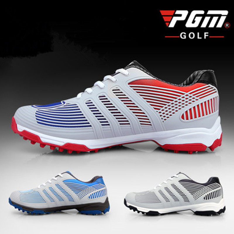 PGM genuine golf shoes men s double patent golf shoes high performance anti collision exoskeleton anti
