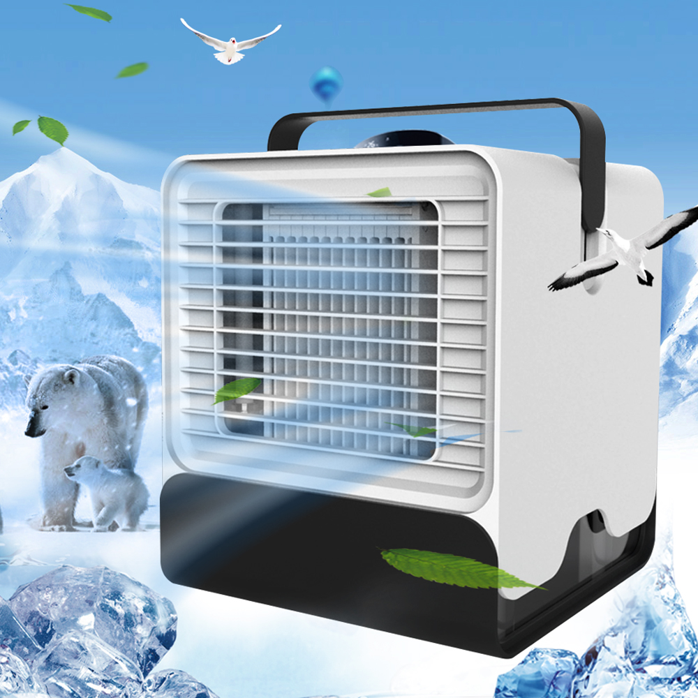 USB Mini Portable Air Conditioner Conditioning Humidifier Purifier Light Desktop Air Cooling Fan Air Cooler Fan for Office HomeUSB Mini Portable Air Conditioner Conditioning Humidifier Purifier Light Desktop Air Cooling Fan Air Cooler Fan for Office Home