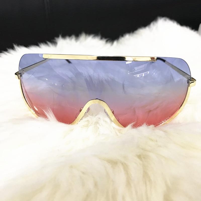 Rimless Gold Clear Sunglasses Men Women Brand Designer Aviator Clear Sunglasses 11